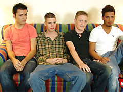 Five straight boys agree to have an orgy for cash