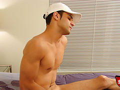 Hot straight boy jerks off on camera for the first time for cash