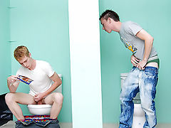 Nevin Scott and Braden Fox have a hot steamy fuck in a public bathroom!